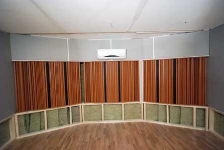 Bakre vägg kontrollrum