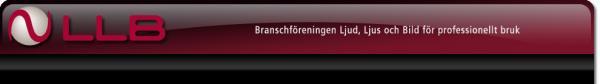 LLB Branschföreningen Ljud, Ljus och Bild för professionellt bruk
