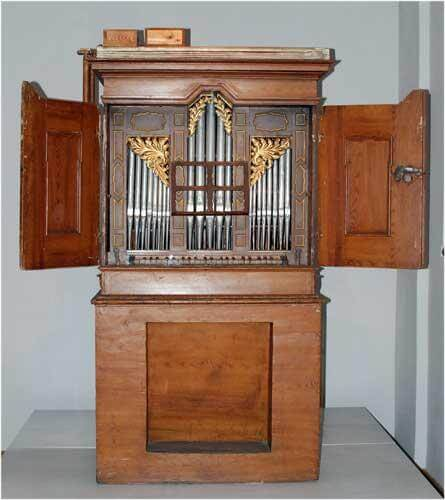 Enmanualigt harmonium tidigt 1800-tal