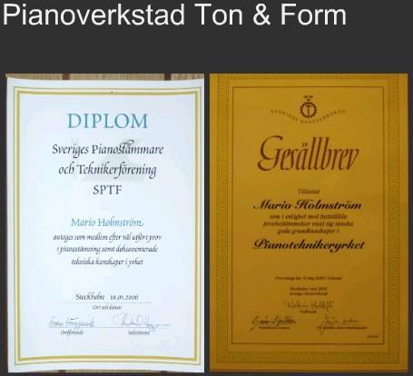 Pianoverkstad Ton & Form
